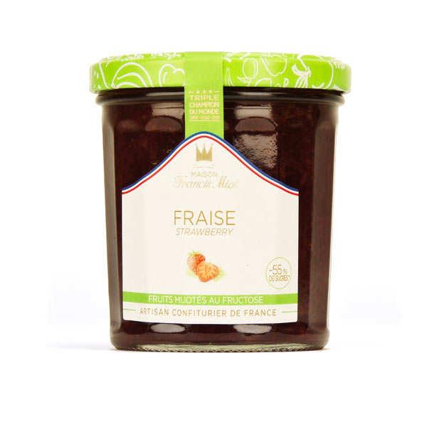 Confiture de fraise allegée en sucre - Francis Miot
