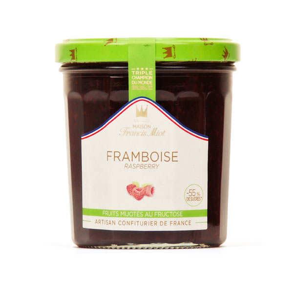 Confiture de framboise allegée en sucre - Francis Miot