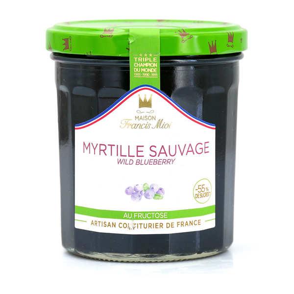 Confiture de myrtille sauvage allegée en sucre - Francis Miot