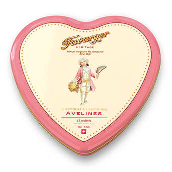 Favarger - Heart metal tin 15 toffee avelines - swiss specialty