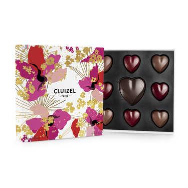 Love Box of 15 Dark & Milk Chocolates by Michel Cluizel