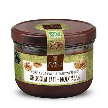 Bovetti chocolats - Véritable pâte à tartiner chocolat au lait et noix sans huile de palme