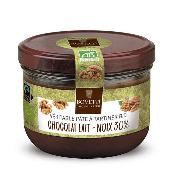 Véritable pâte à tartiner chocolat au lait et noix sans huile de palme