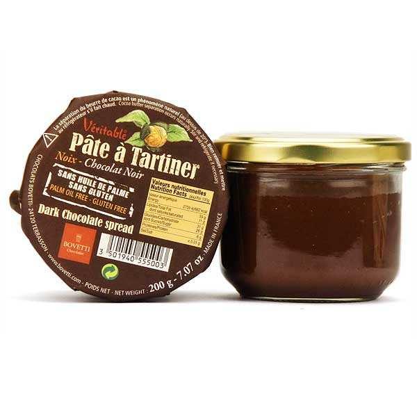 Véritable pâte à tartiner chocolat noir et noix sans huile de palme