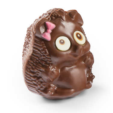Funny Easter hedgehog in milk chocolate - Mrs