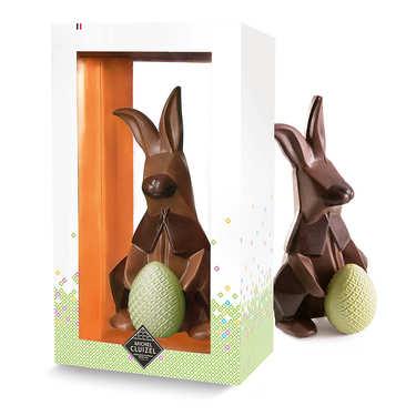 Lapin origami - Chocolat au lait