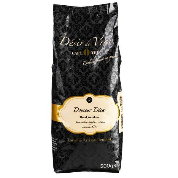 Coffee in beans decaffeinated