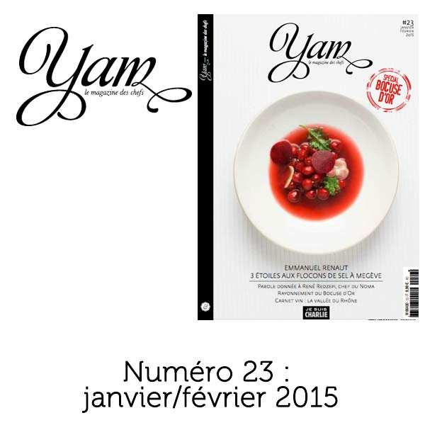 French magazine about cuisine - YAM n°23