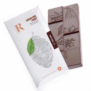Rrraw - Tablette de chocolat cru du Pérou aux éclats de fève bio