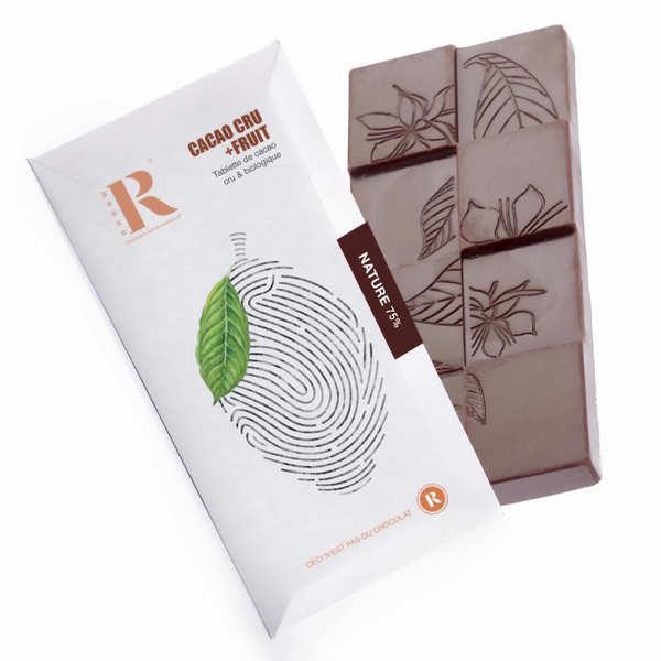 Tablette de chocolat cru du Pérou aux éclats de fève bio