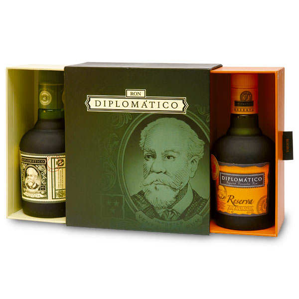 Diplomatico rum gift box (35cl reserve + 35cl reserva exclusiva)