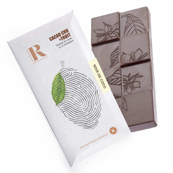 Raw chocolate with coconut bar