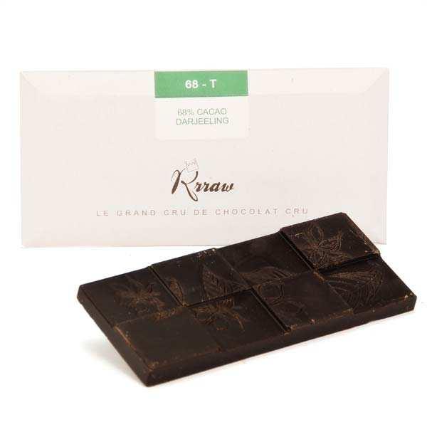 Tablette de chocolat cru et thé bio