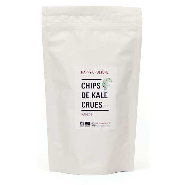 Chips de kale crues bio saveur ranch