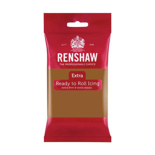 Pâte à sucre marron clair - Renshaw Extra