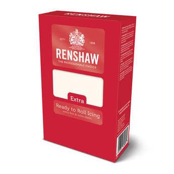 Renshaw - Pâte à sucre blanche en 1kg - Renshaw Extra