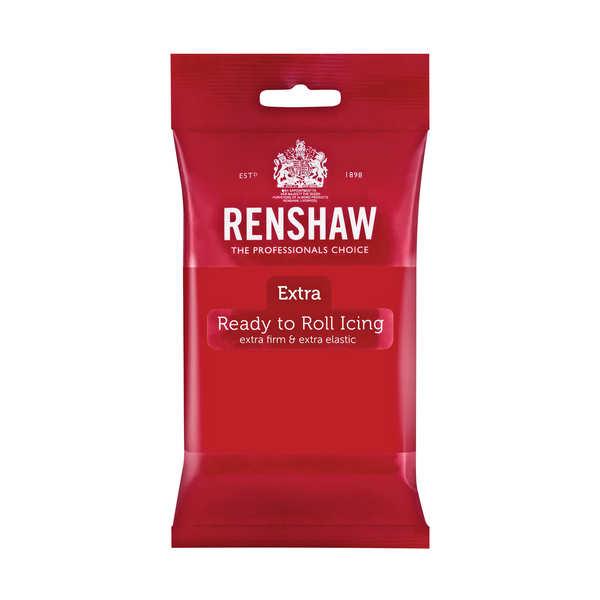 Pâte à sucre rouge coquelicot - Renshaw Extra
