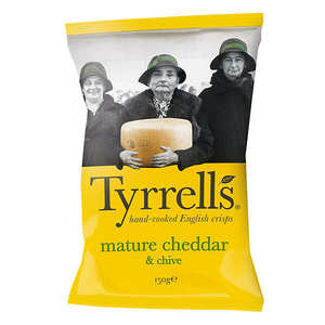 Tyrrells - Potato crisps with mature cheddar and chives