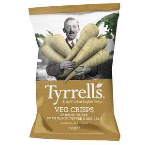 Tyrrells - Chips de panais au sel de mer et au poivre noir