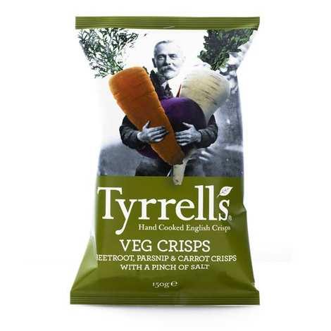 Tyrrells - Chips de légumes - panais, betteraves et carottes légèrement salées
