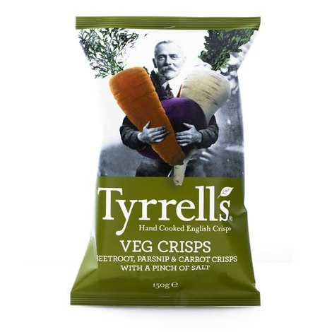 Tyrrells - Lightly salted parsnip beetroot and carrot crisps