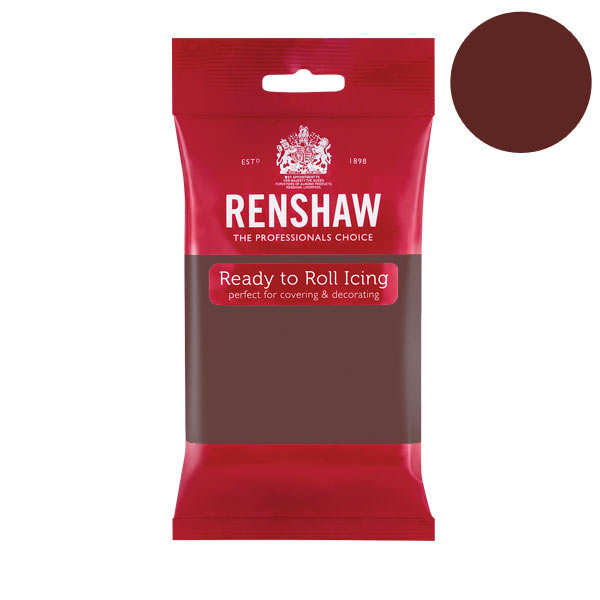 Pâte à sucre marron goût chocolat - Renshaw