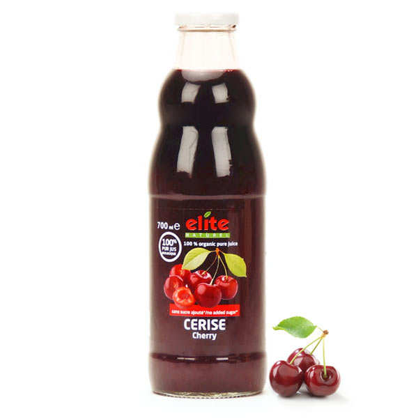 Pure organic cherry juice