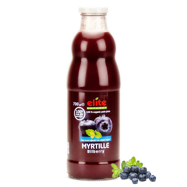 Pure organic blueberry juice