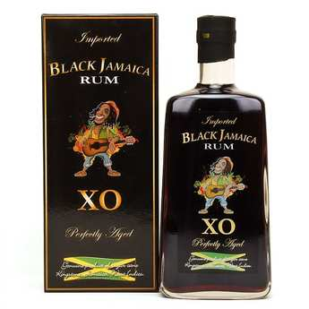 Distillerie Monbacho - Black Jamaïca XO rhum + étui - 40%
