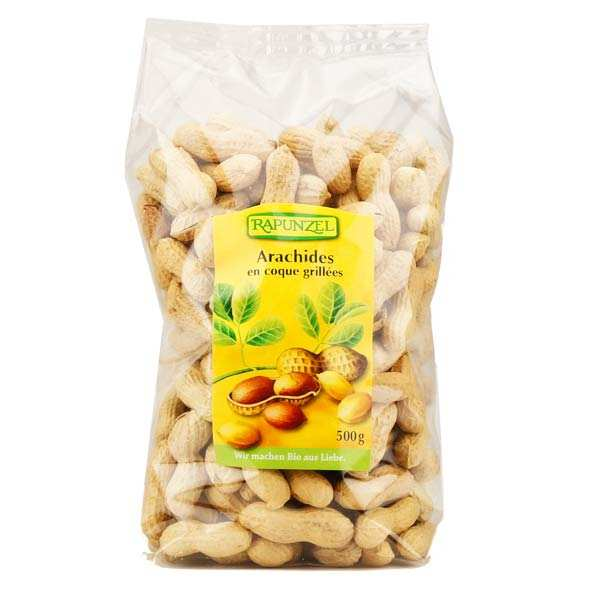 Arachides coques grillées bio (cacahuètes bio)
