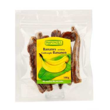 Whole dried organic bananas