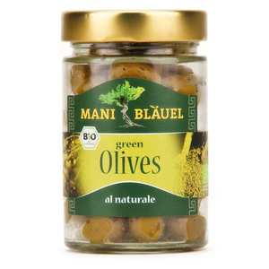 Mani Blauel - Organic Greek Green Amfissa Pickled Olive