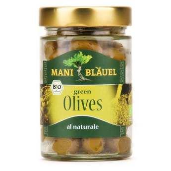 """Mani Blauel - Olives vertes grecques """"au naturel"""" bio"""