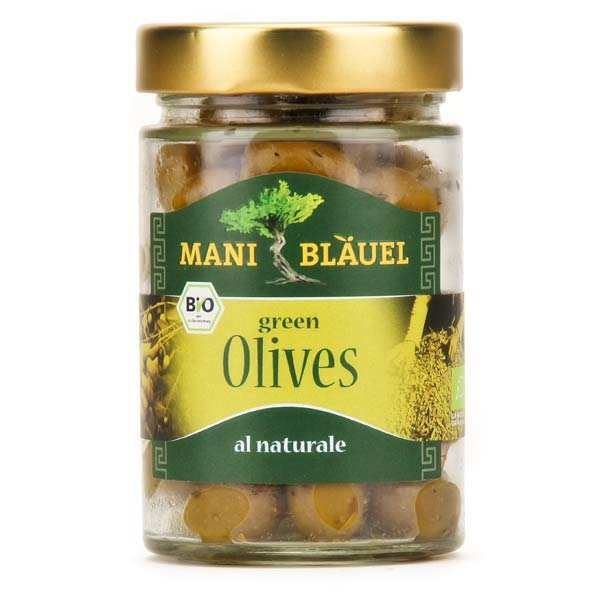 "Olives vertes grecques ""au naturel"" bio"