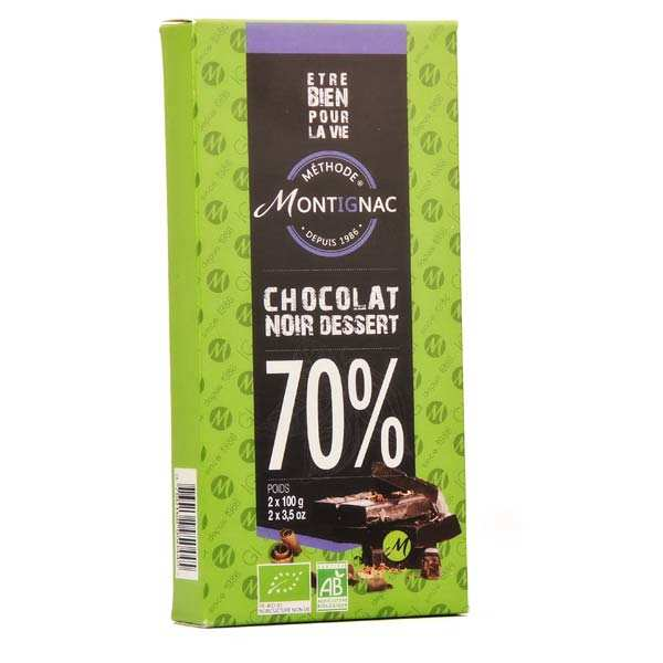 Chocolat noir dessert 70% bio - Montignac
