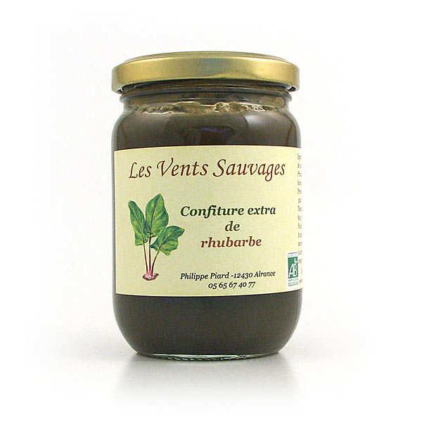 Organic rhubarb jam