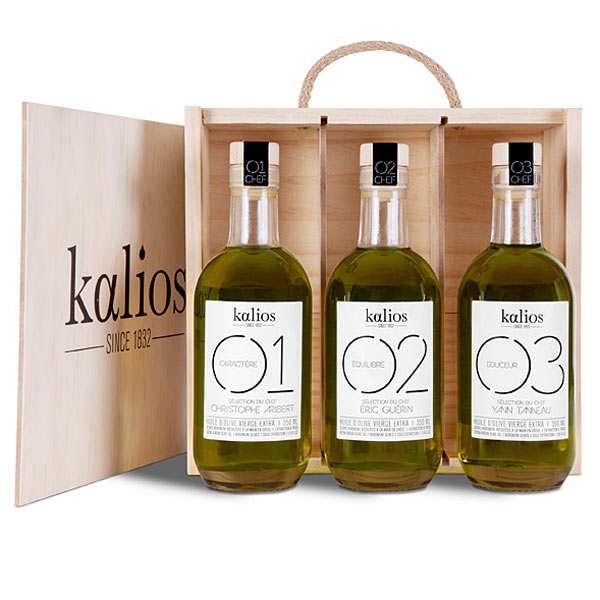 Coffret 3 huiles d'olive premium grecques