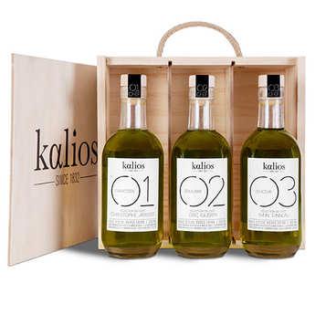 Kalios - Coffret 3 huiles d'olive premium grecques
