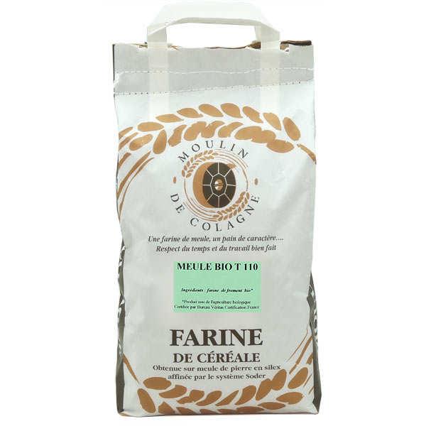 Farine de blé à la meule T110 bio - Colagne