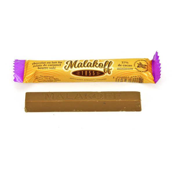 Barre chocolat lait et caramel au beurre salé - Malakoff