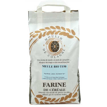 Organic whole wheat flour bag