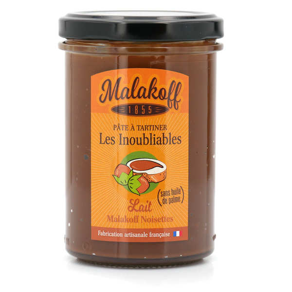 Pâte à tartiner lait noisette - Malakoff