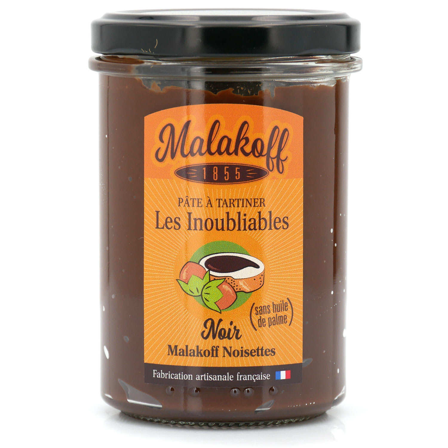 Malakoff spread with dark chocolate and hazelnuts