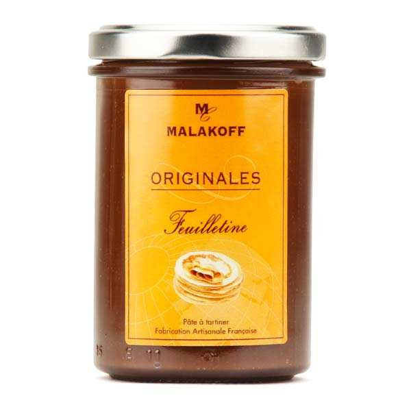 Pâte à tartiner chocolat au lait feuilletine - Malakoff