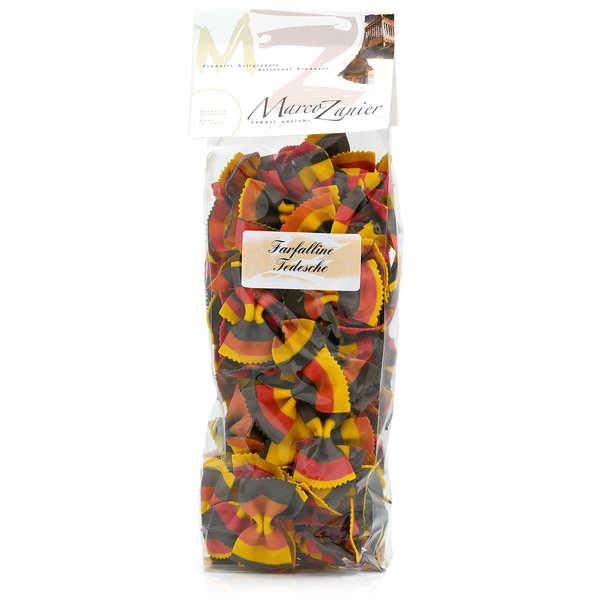 Pâtes farfalline multicolores