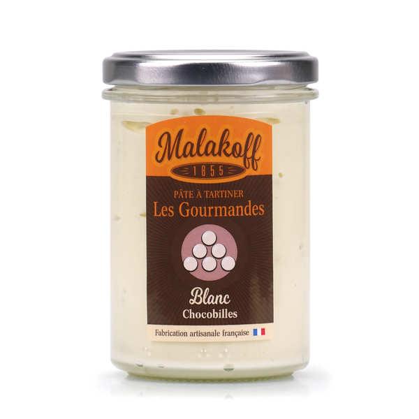 "Pâte à tartiner chocolat blanc ""crunchy"" - Malakoff"