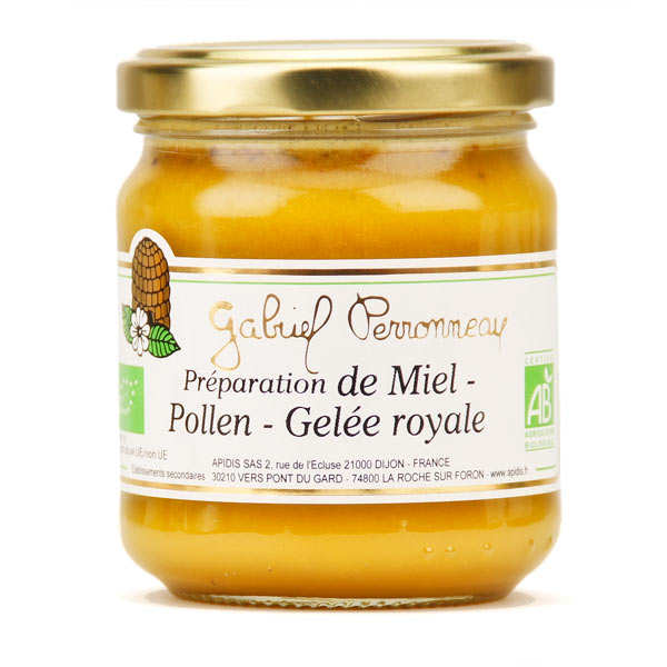 Organic Mix of Creamy Honey, Pollen and Royal Jelly