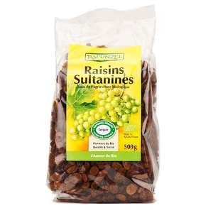 Rapunzel - Organic Demeter Sultanines Raisins (500g)