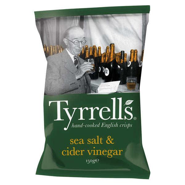 Chips de pommes de terre au vinaigre de cidre et au sel de mer