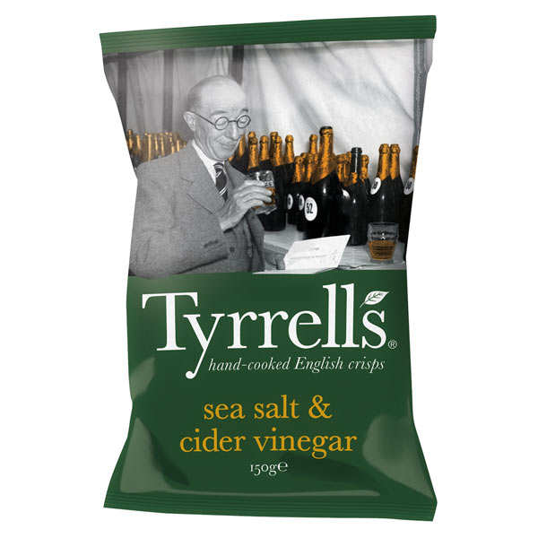 Potato crisps with cider vinegar and sea salt